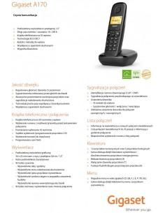Telefon analogowy DECT Gigaset A170