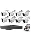 Kompletny zestaw CCTV 4 kamer 5 MP + HDD
